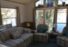 Livingroom overlooking river, sofa bed, central heat and air, sat HD tv, fiber optic WIFI