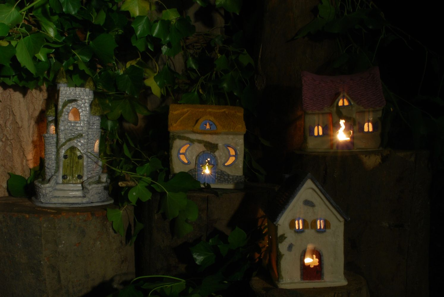 fairy house with candles for making a wish fairy castle for indoors and outdoors your fairy garden