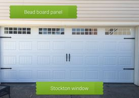 Carriage style garage door by Bartlett Garage Doors in Memphis, TN