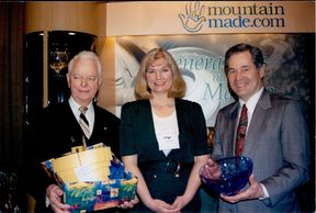 Senator Robert C. Byrd, Congressman Alan B. Mollohan. Custom Gifts by Catherine Miller