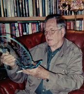 Jim Fowler studying his  Harpy Eagle