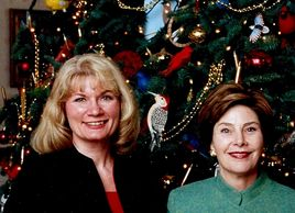 Catherine Miller and First Lady Laura Bush at the White House - official White House Christmas tree
