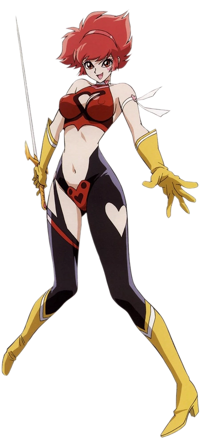 "Cutie Honey, as she appeared in ""Re: Cutie Honey"" from 2004."