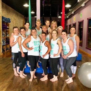 Aerial yoga, birthday party, bachelorette party