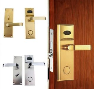 Silver and brass hospitality locks
