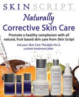 Skin Script professional product line. A fruit based skin care line.