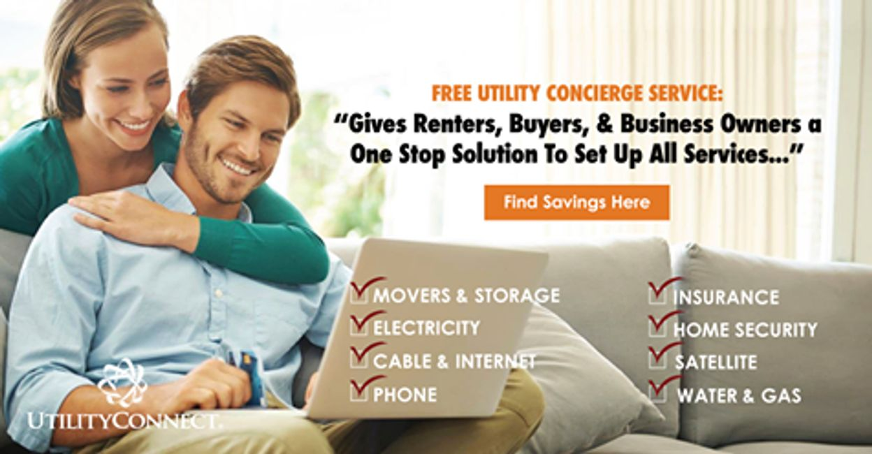Easily Connect Your New Utilities & Home Services Compliments of Andy Peterson Exit Rocky Top Realty