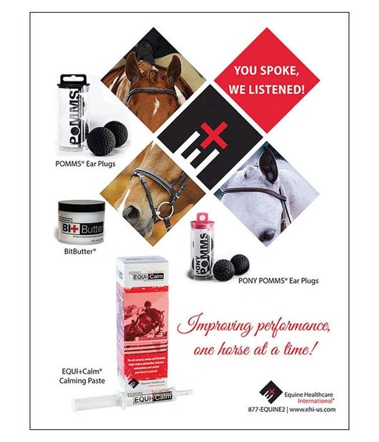 Full page ad for Equine Healthcare International