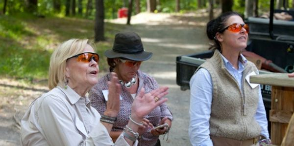 Women enjoying a day shooting sporting clays with the G.R.I.T.S.