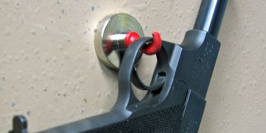 Magnetic Hooks and Disks for Gun Storage or Hiding