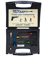 The Pistolero PistoLaser lets pistol shooters practice shooting at home with their own gun.