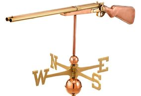 Our L.C. Smith Vintage Shotgun Weathervane is made from 100% pure copper with solid brass and copper