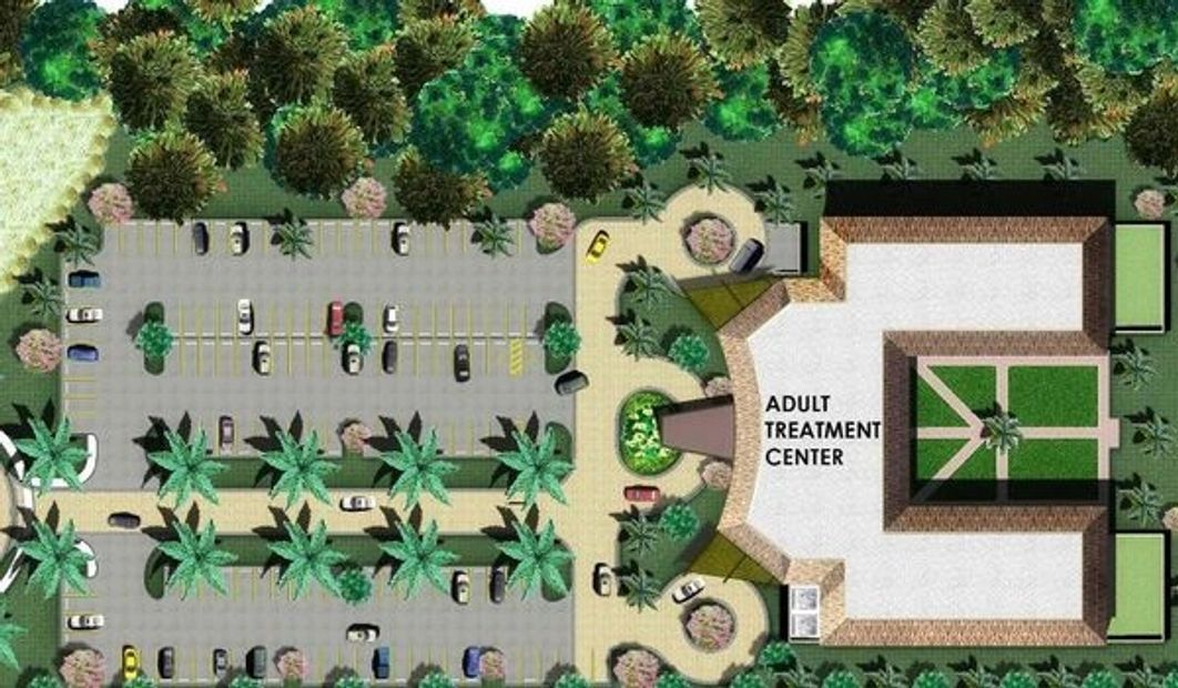 Image of the Adult Treatment Center Overhead view of the exterior building map