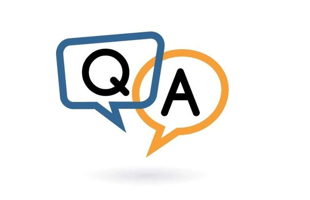 Image of Q and A chat box