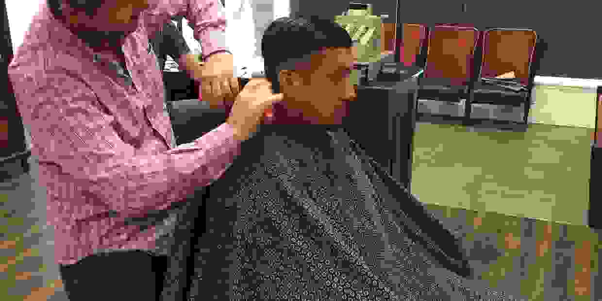 Barbershop barber and shop mens haircut skin fade mens style neighbourhood barbershop kids haircut