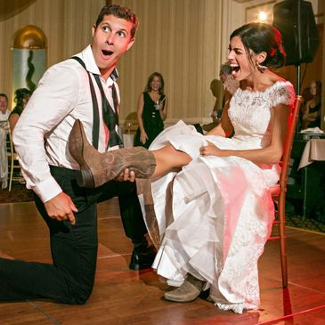 Best wedding garter removal songs by Paradox productions in Portland, Oregon.
