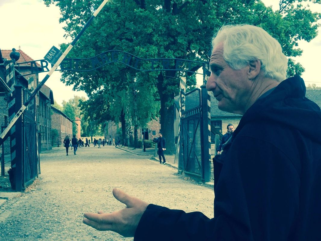 At the gate of Auschwitz