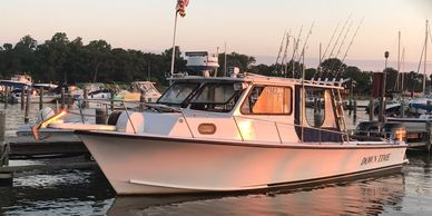 Annapolis fishing charters on board the Down Time