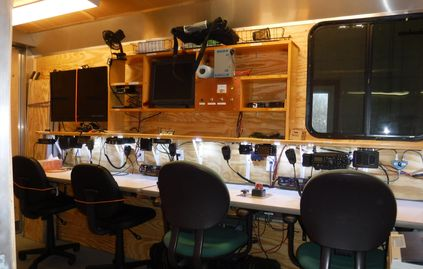 Mobile Comm trailer operating stations