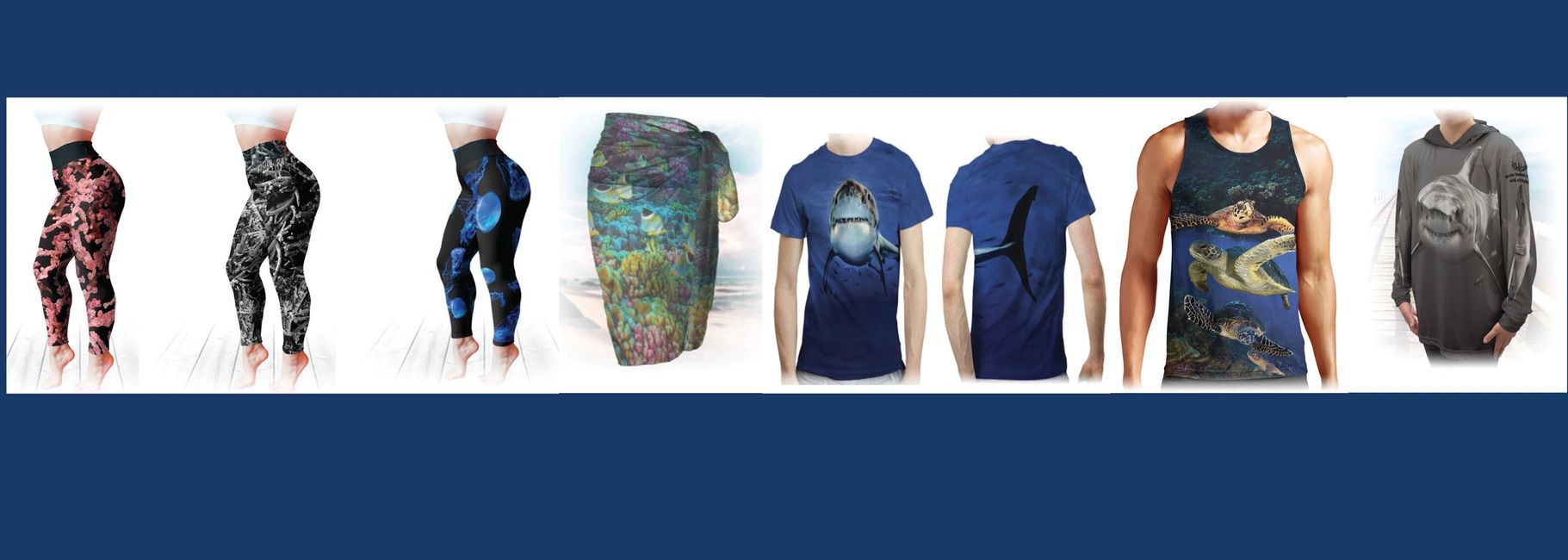 FishAtude Marine themed stuff with attitude offers apparel art - leggings, shirts, and baby wear.