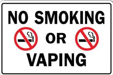 No Smoke and Vape sign