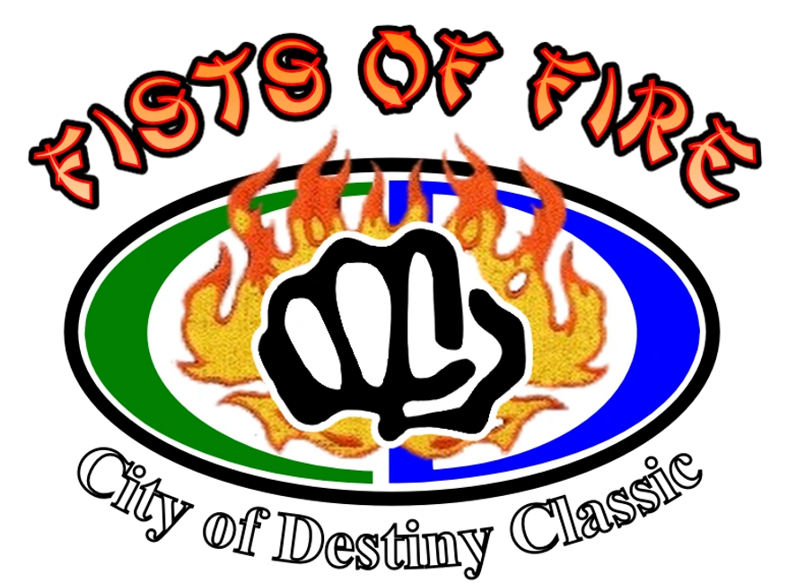 The City of Destiny Classic's Fists of Fire logo