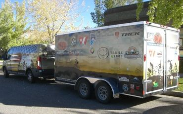 Durango Devo transit and trailer wrap.