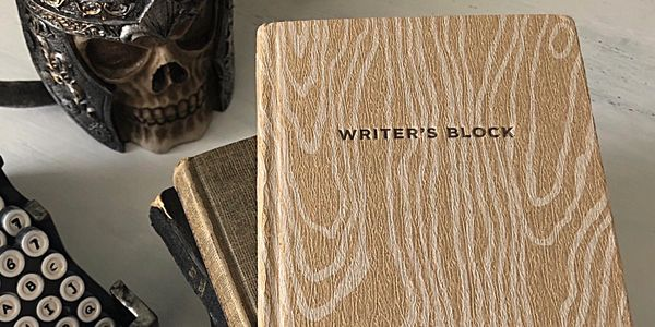 Writer's block. Writers, authors, storytellers, journal, think clear, focus, write, tell, enjoy.