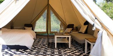 Luxury Glamping Tent. CareFree Camping at Lake Louisa State Park.