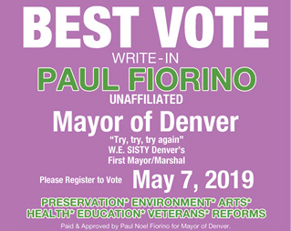 PAUL  FIORINO FOR DENVER MAYOR