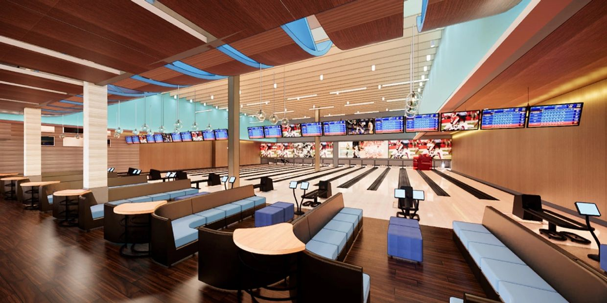 Rendering of Bowling Lanes.