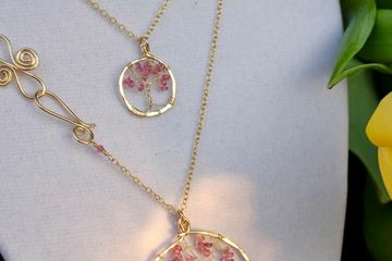 tree of life with pink tourmaline
