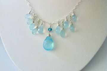 Sterling silver with Chalcedony gemstones