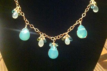 14kt gold filled with Chalcedony gemstones