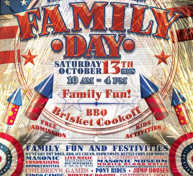 Family Day 2018 poster describing event fun and festivities