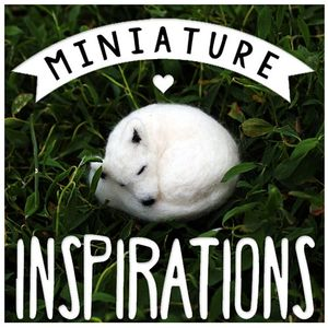 Miniature Inspirations Logo small white felted fox