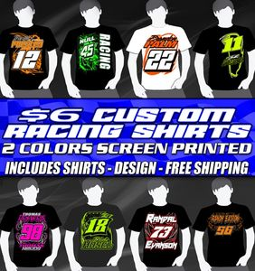$6 Silk Screen Auto Racing Motorsports Shirt Special