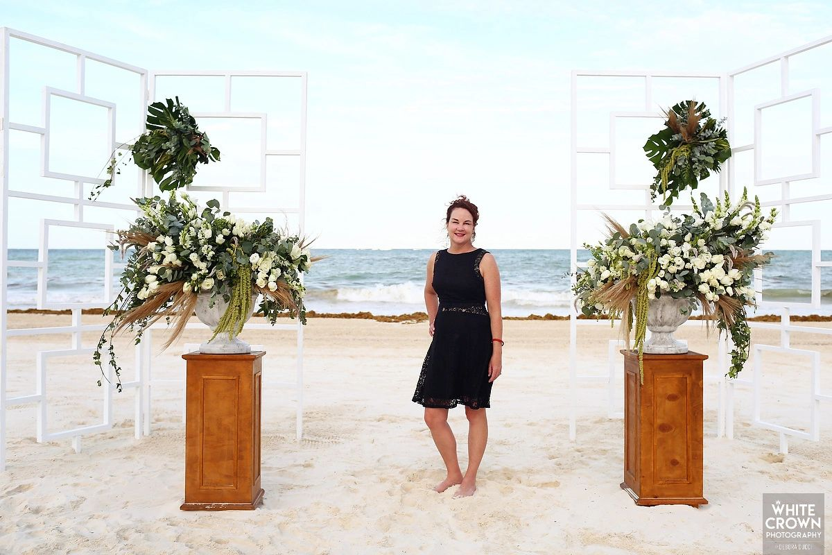 Nancy Barkley, certified destination wedding planner.
