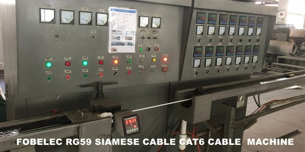 FOBELEC RG59 SIAMESE CABLE CAT6 CABLE MACHINE