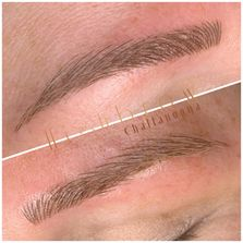 Microblade hair strokes tattoo permanent make up eyebrows