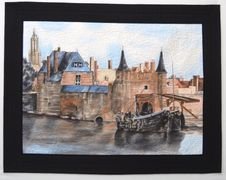 """Vermeer's Delft"" painted by Judith Phelps"