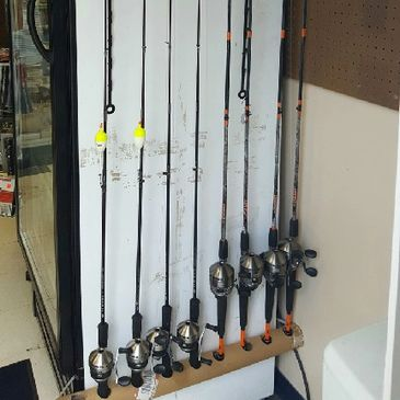 Rods and Reels, Rod and reel rentals, rent fishing equipment, fishing equipment in Harrisonburg, VA