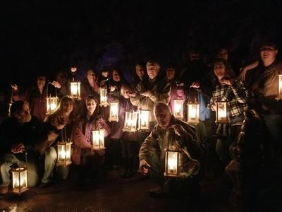 Dec 2019 to Lewis and Clark Caverns Candle Light Trip - fun time by all!