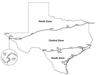 Texas Dove Hunting Zone Boundaries
