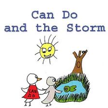 FREE Downloadable Can Do And The Storm Book in black and white,  for reading or as a coloring book.