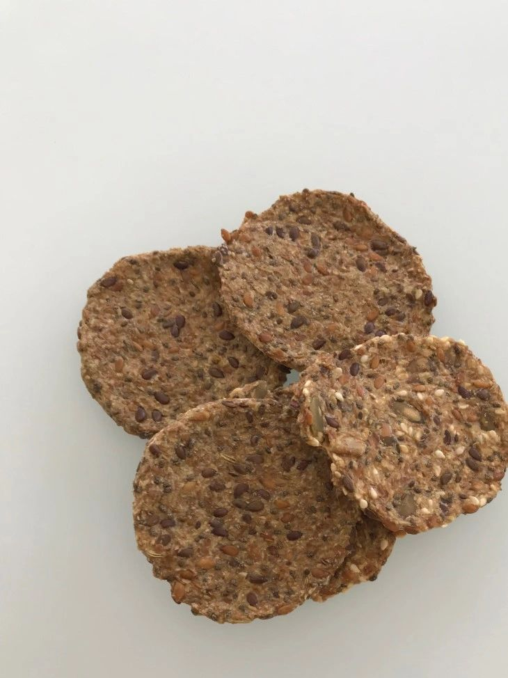 Flax and chia seed crackers. So crunchy, healthy, and divine!