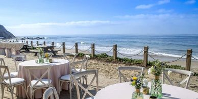 Orange County venues located on the beach or have a waterfront view.