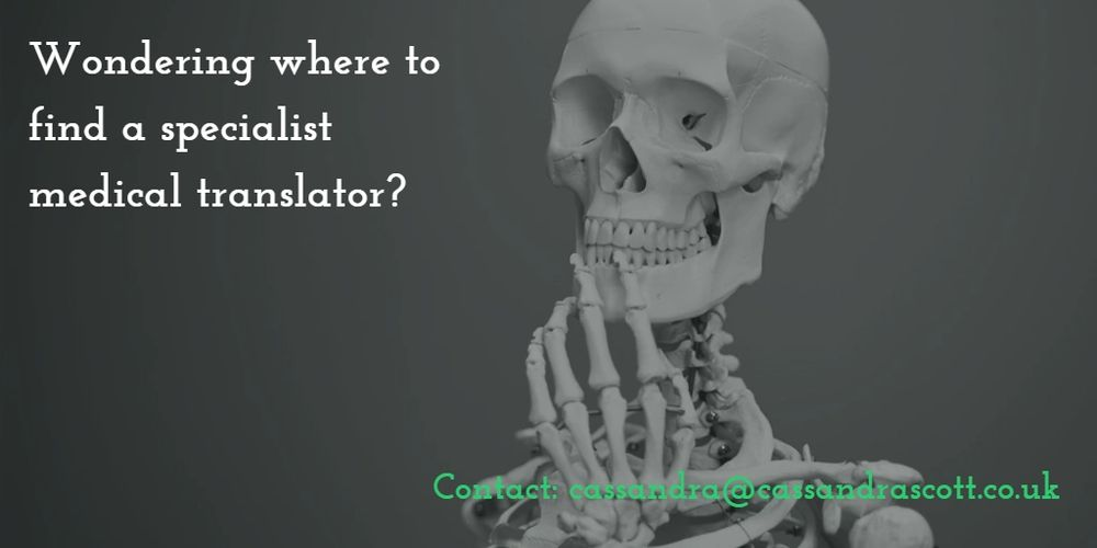 A medical skeleton thinking: Where can I find a good medical translator?