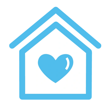 small icon of house with heart inside