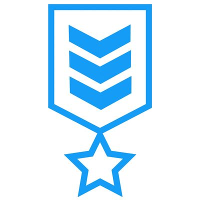 small icon of a military badge